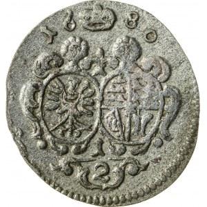 1/2 krajcara, 1680, Krystian Ulryk 1668-1698, Oleśnica
