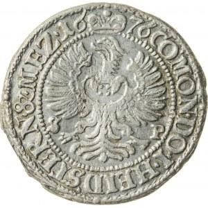 3 krajcary, 1676, Sylwiusz Fryderyk 1664-1697, Oleśnica