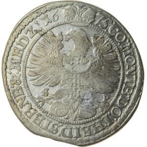 15 krajcarów, 1675, Sylwiusz Fryderyk 1664-1697, Oleśnica, R3