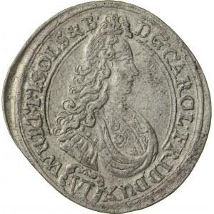 6 krajcarów, 1712, Karol Fryderyk 1704 – 1744, Oleśnica