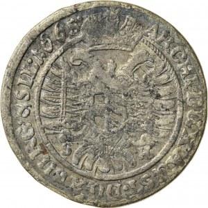 6 krajcarów, 1665, SH, Wrocław