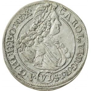 6 krajcarów, 1713, Karol VI, Wrocław
