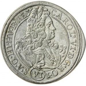 6 krajcarów, 1715, Karol VI, Wrocław