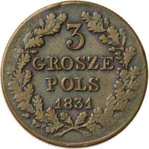 3 grosze, 1831, Powstanie Listopadowe