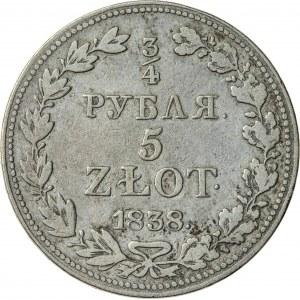 5 zł/3/4 rubla, 1838