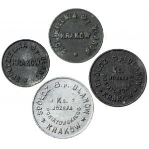 zestaw zastępczego pieniądza wojskowego, Kraków, 4 sztuki