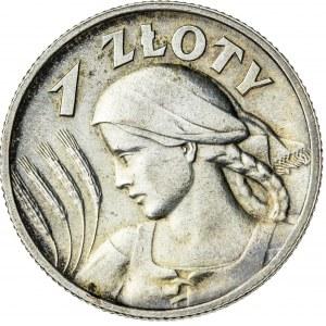 1 zł, 1925, II RP, kobieta z kłosami