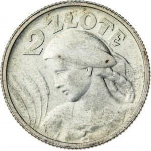 2 zł, 1924, II RP, kobieta z kłosami, Paryż