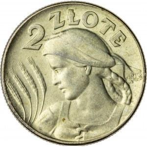 2 zł, 1925, II RP, kobieta z kłosami
