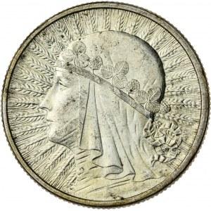 2 zł, 1934, II RP, kobieta w czepcu