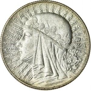5 zł, 1932, bez znaku, II RP, kobieta w czepcu