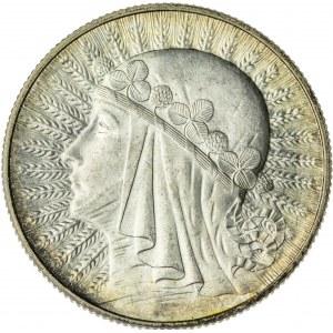 5 zł, 1933, II RP, kobieta w czepcu, przepiękny stan