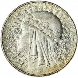 5 zł, 1934, II RP, kobieta w czepcu