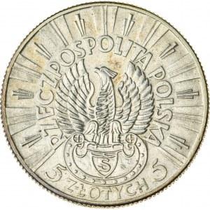 5 zł, 1934, II RP, Piłsudski, orzeł strzelecki