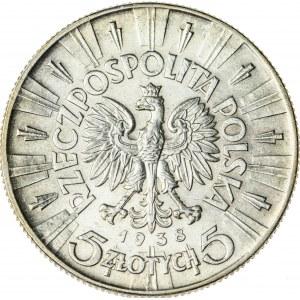 5 zł, 1938, II RP, Piłsudski, przepiękny stan