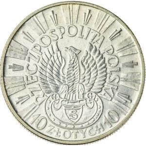 10 zł, 1934, II RP, Piłsudski, orzeł strzelecki