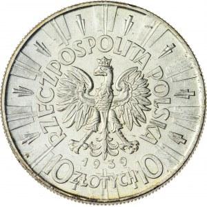 10 zł, 1939, II RP, Piłsudski, piękny stan zachowania