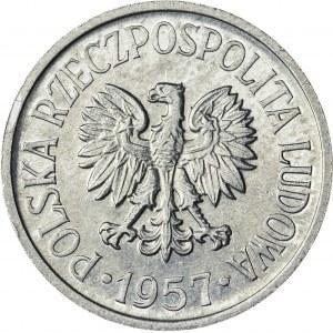 20 gr, 1957, Aluminium, PRL, SZEROKA DATA, RRR