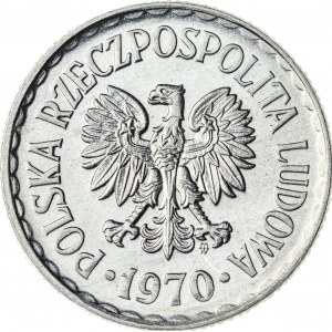 1 zł, 1970, Aluminium, PRL, piękna