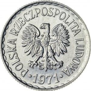 1 zł, 1971, Aluminium, PRL, piękna