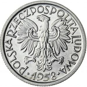 2 zł, 1958, Aluminium, PRL, jagody, piękna