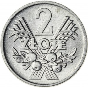 2 zł, 1959, Aluminium, PRL, jagody, piękna