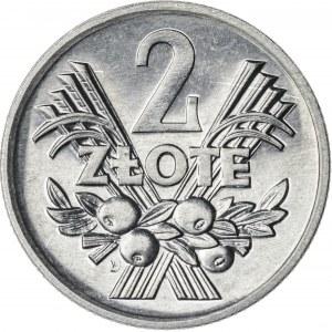 2 zł, 1971, Aluminium, PRL, jagody
