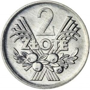 2 zł, 1972, Aluminium, PRL, jagody