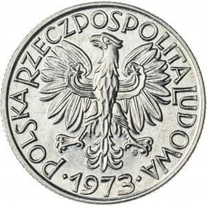 5 zł, 1973, Aluminium, PRL, rybak, spłaszczona cyfra 3