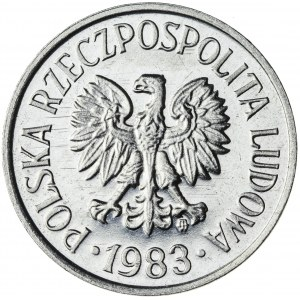 20 gr, 1983, Aluminium, PRL, PROOF LIKE