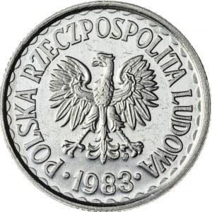 1 zł, 1983, Aluminium, PRL, PROOF LIKE