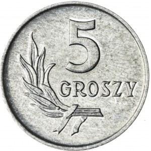 5 gr, 1965, Aluminium, PRL, efektowna skrętka