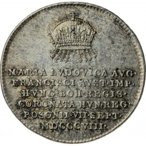 żeton koronacyjny, 1808, Maria Ludwika, Austria