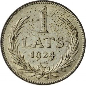 1 lats, 1924, Łotwa