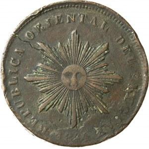 40 centymów, 1844, Urugwaj