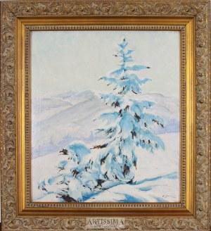 Franciszek Jaźwiecki (1900–1946), Świerk w śniegu, 1939