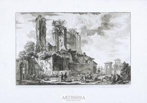 Giovanni Battista Piranesi (1720–1778), Veduta dell'avanzo del Castello...dell'Acqua Giulia, edycja rzymska