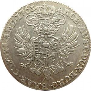 Austria, Maria Teresa, 1/2 talara 1763, Bruksela