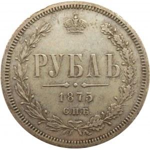 Rosja, Aleksander II, 1 rubel 1875 HI, Petersburg, rzadki rocznik