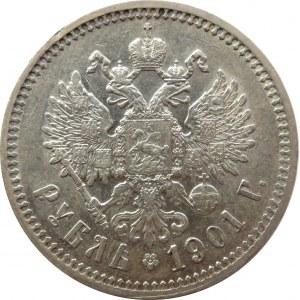Rosja, Mikołaj II, 1 rubel 1901 FZ, bardzo ładny