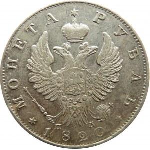 Rosja, Aleksander I, 1 rubel 1820 PD, Petersburg