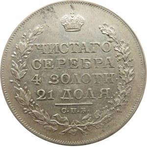 Rosja, Aleksander I, 1 rubel 1819 PC, Petersburg, ładny