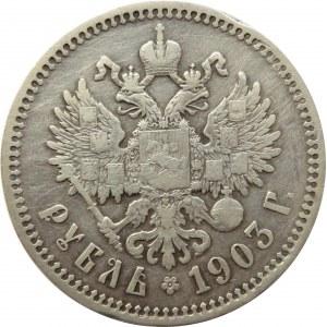 Rosja, Mikołaj II, 1 rubel 1903 AP, Petersburg, rzadki