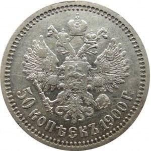 Rosja, Mikołaj II, 50 kopiejek 1900 FZ, Petersburg