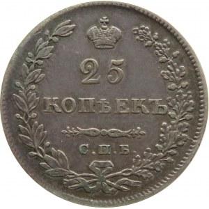 Rosja, Mikołaj I, 25 kopiejek 1830 HG, Petersburg, rzadszy rocznik