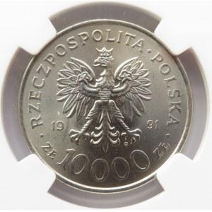 Polska, III RP, 10000 złotych 1991, Rocznica Konstytucji 3 Maja, NGC MS66