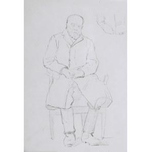 Karol Kossak (1896-1975), Postać siedzącego, starego mężczyzny