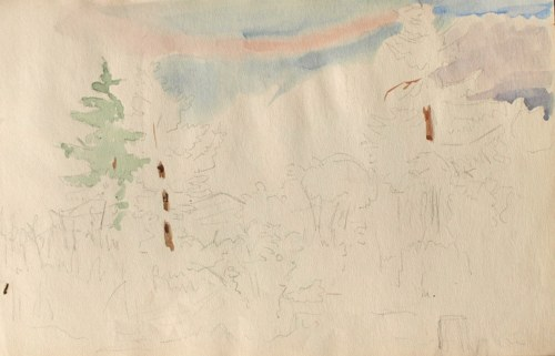 Karol Kossak (1896-1975), Szkice pejzażu, 1922
