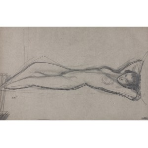 Wojciech Weiss (1875 - 1950), Akt leżącej kobiety