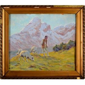 Zefiryn Ćwikliński (1871 Lwów - 1930 Zakopane), Wypas owiec, 1925